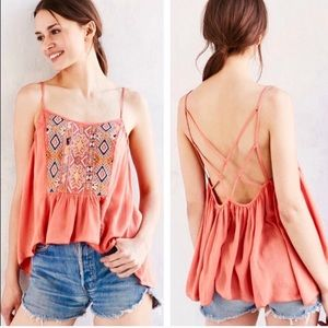 NEW Ecote Urban Outfitters Embroidered Tank Top